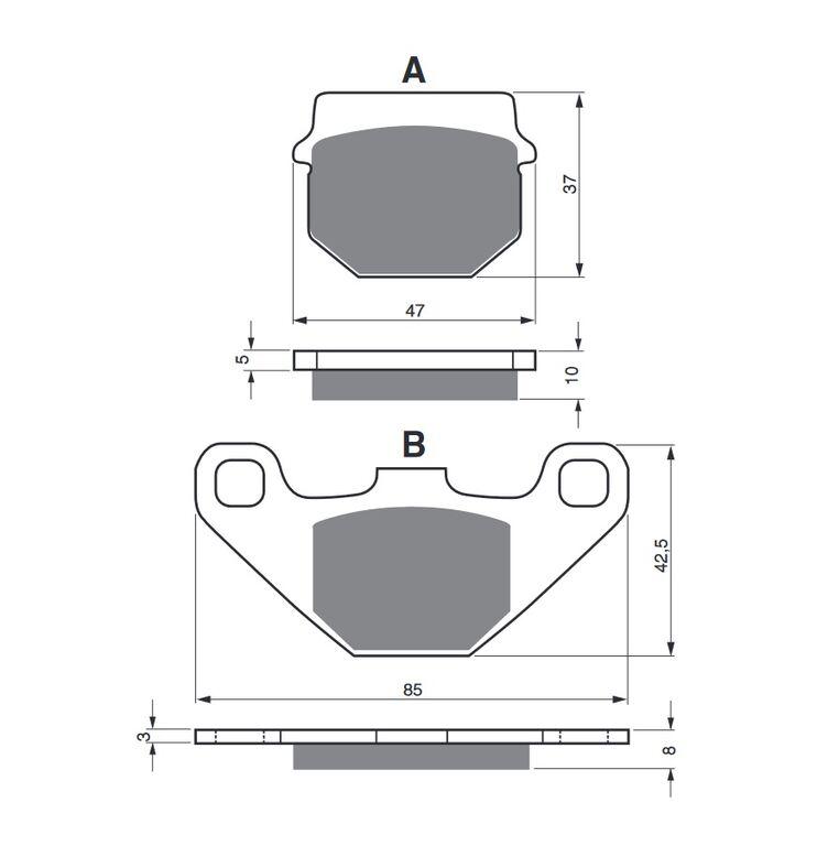 Obrázek produktu Brzdové destičky GOLDFREN S33 OFF-ROAD