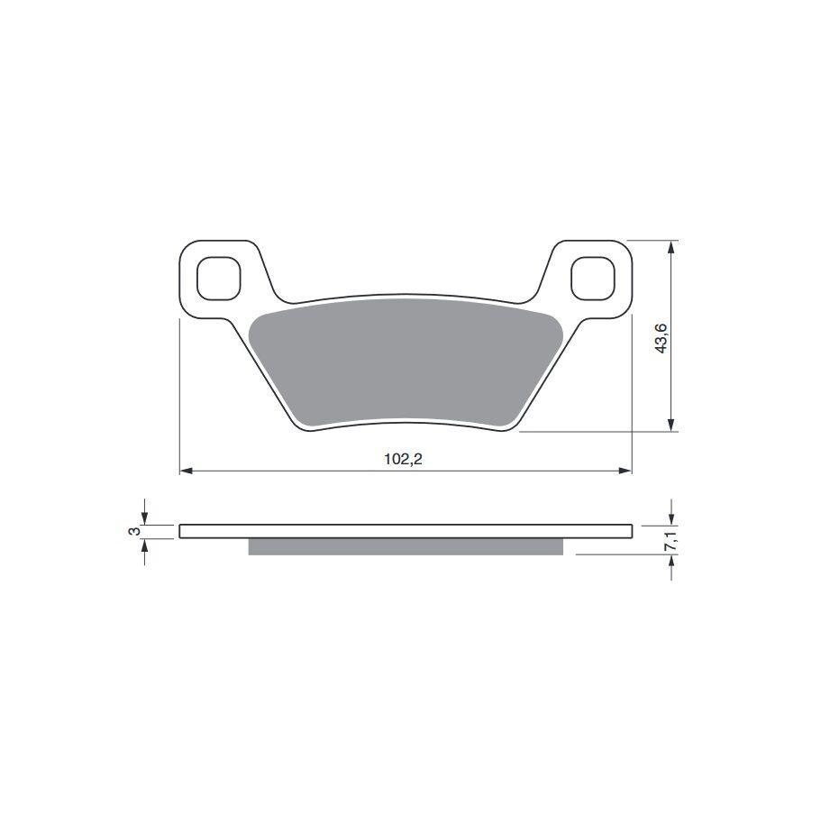 Obrázek produktu Brzdové destičky GOLDFREN S33 OFF-ROAD REAR