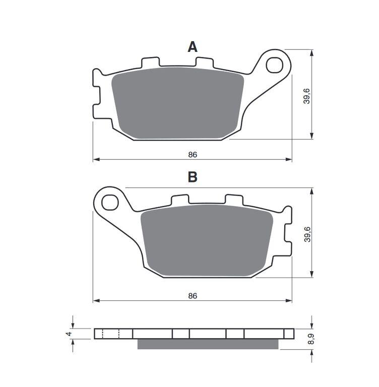 Obrázek produktu Brzdové destičky GOLDFREN S33 STREET REAR