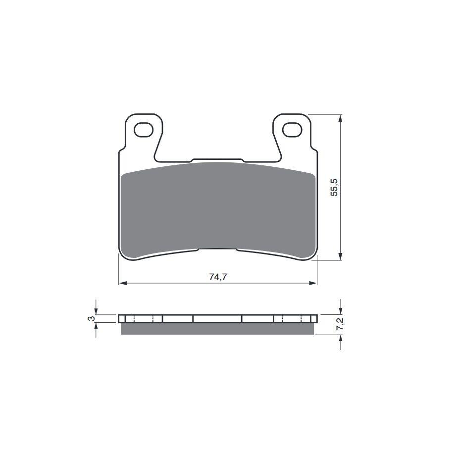 Obrázek produktu Brzdové destičky GOLDFREN S33 STREET FRONT