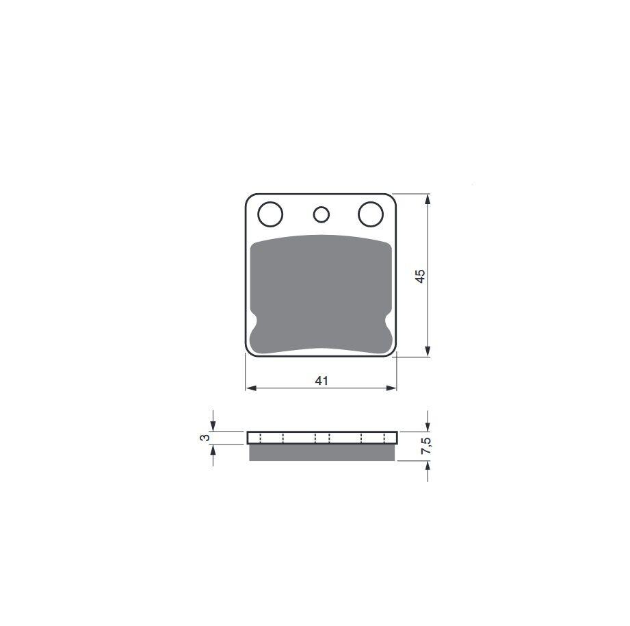 Obrázek produktu Brzdové destičky GOLDFREN S33 STREET