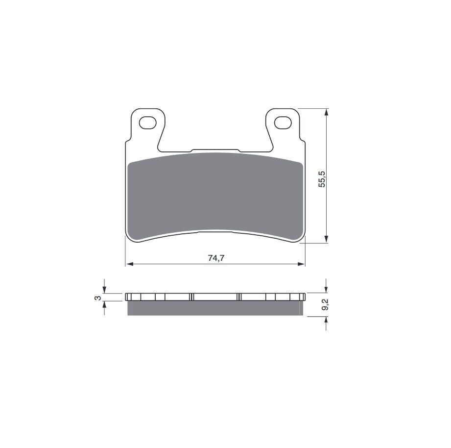 Obrázek produktu Brzdové destičky GOLDFREN GP6