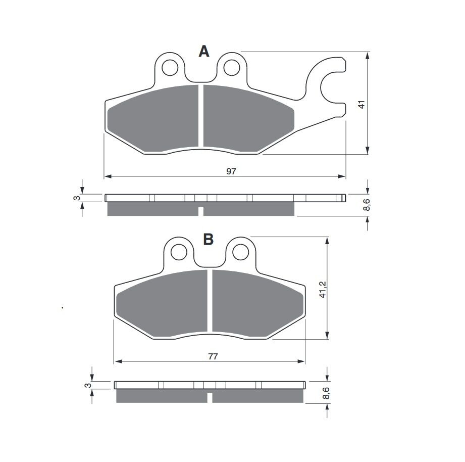 Obrázek produktu Brzdové destičky GOLDFREN S3 Pravý
