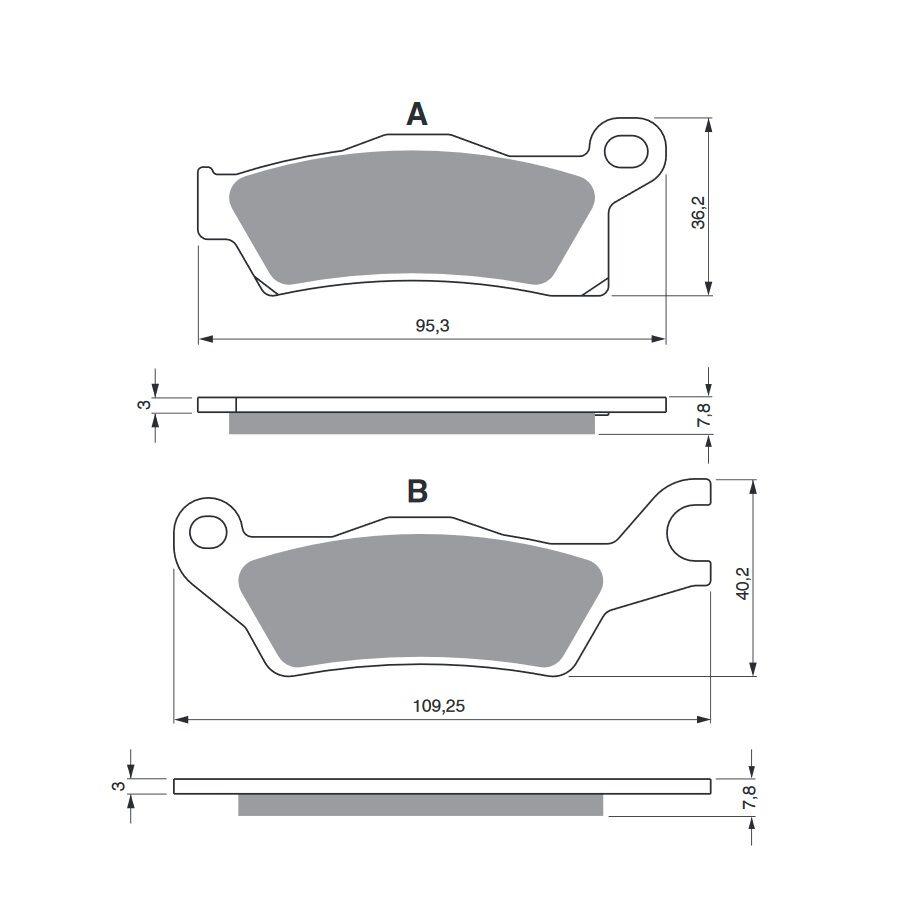 Obrázek produktu Brzdové destičky GOLDFREN S3 Levý kotouč