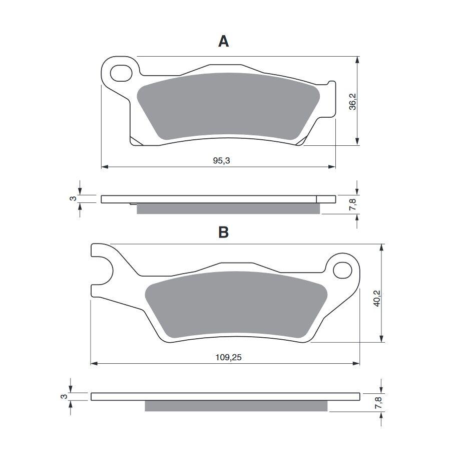 Obrázek produktu Brzdové destičky GOLDFREN S3 Pravý kotouč