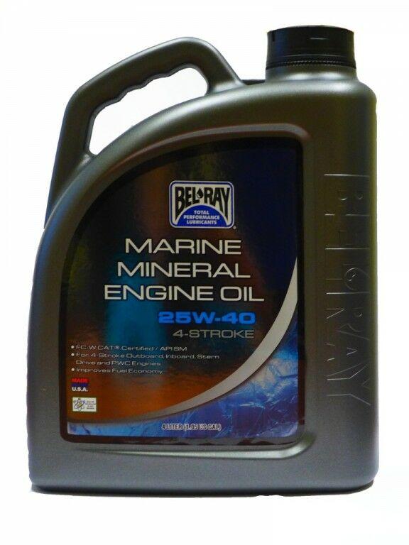 Obrázek produktu Motorový olej Bel-Ray MARINE MINERAL 4T 25W-40 4 l 99730-BT4