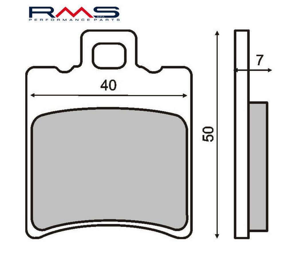 Obrázek produktu Brzdové destičky RMS organické Přední