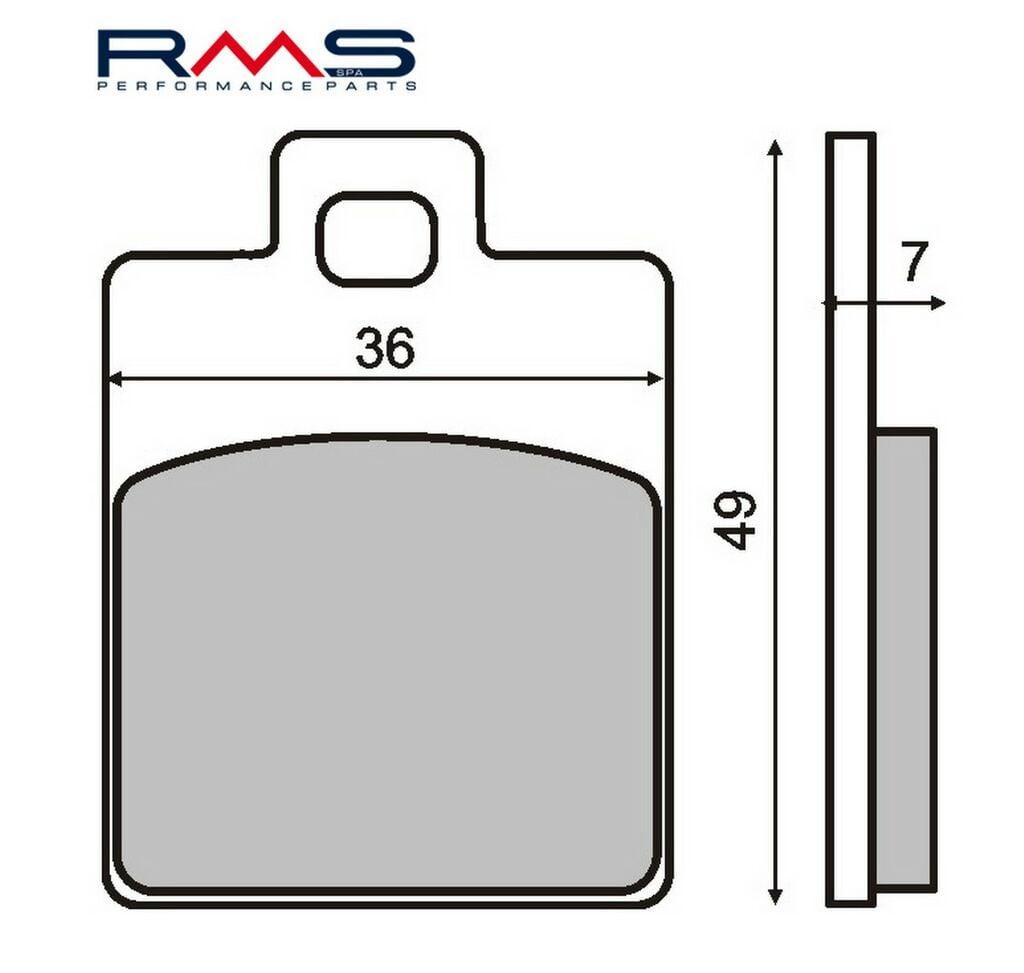 Obrázek produktu Brzdové destičky RMS organické Zadní