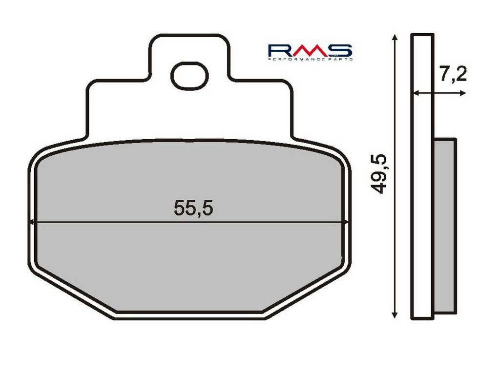 Obrázek produktu Brzdové destičky RMS organické Zadní; GTS 125 ie