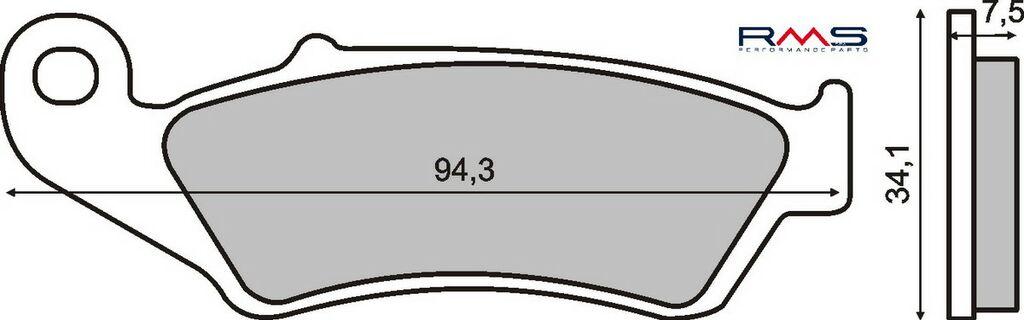 Obrázek produktu Brzdové destičky RMS organické Přední (ATV HONDA TRX 400 R)
