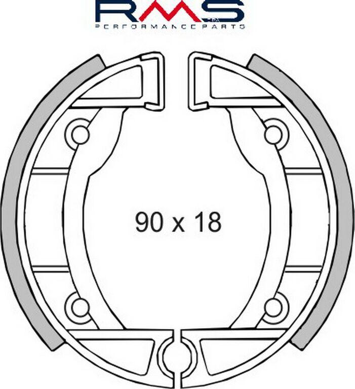 Obrázek produktu Brzdové čelisti RMS Přední