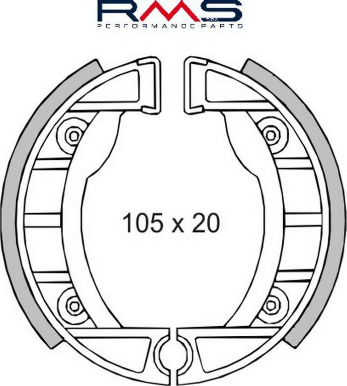 Obrázek produktu Brzdové čelisti RMS