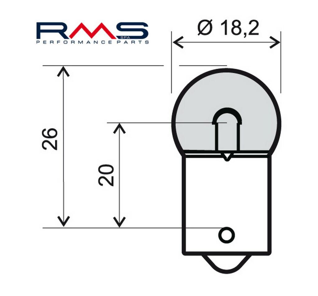 Obrázek produktu Žárovka RMS 12V 10W, R10 BA15S bílá 246510235