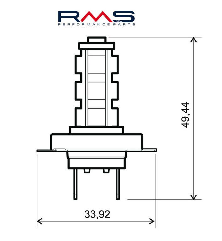 Obrázek produktu Žárovka RMS 12V 14 Led, H7 modrá 246510610