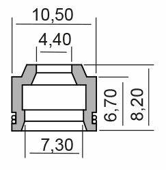Obrázek produktu Gufero RMS valve stem (sada 10ks)