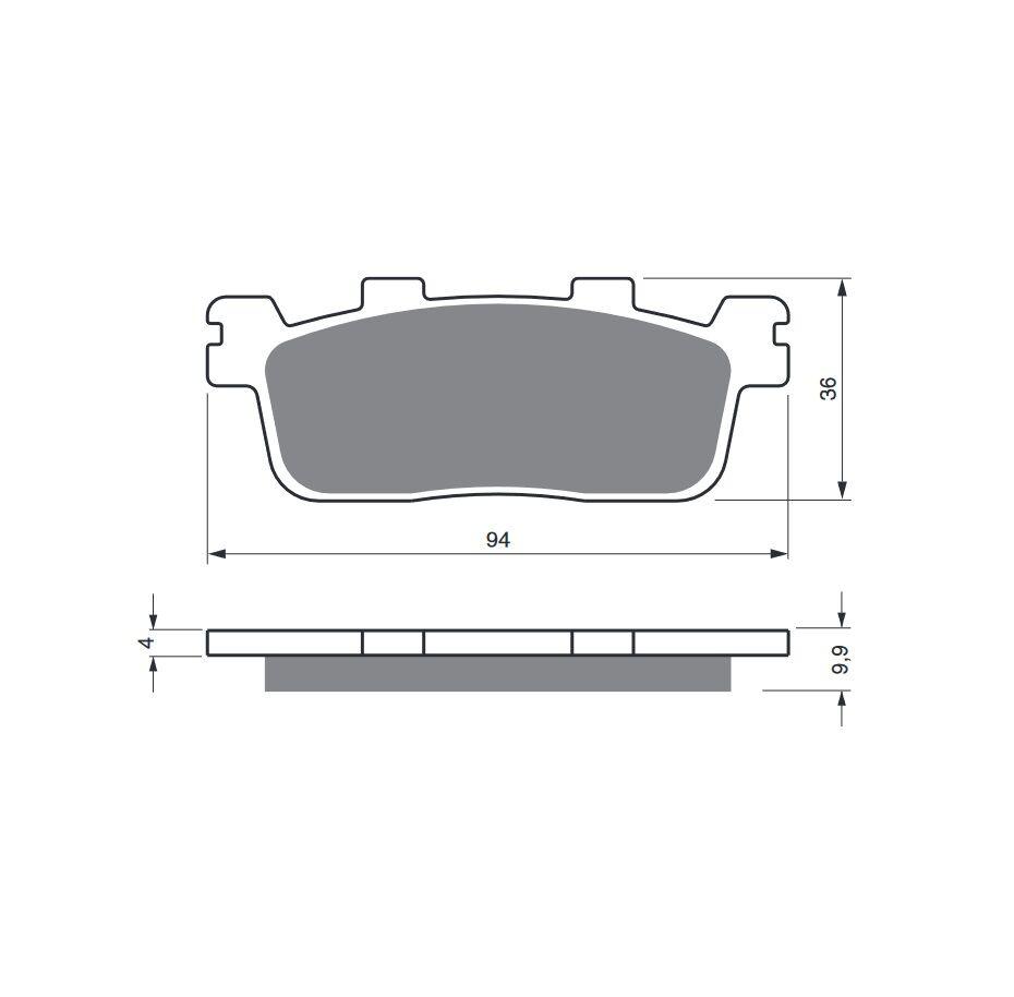 Obrázek produktu Brzdové destičky GOLDFREN S33 STREET REAR Pravý