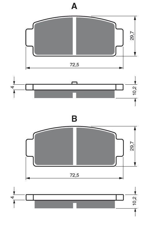 Obrázek produktu Brzdové destičky GOLDFREN K1
