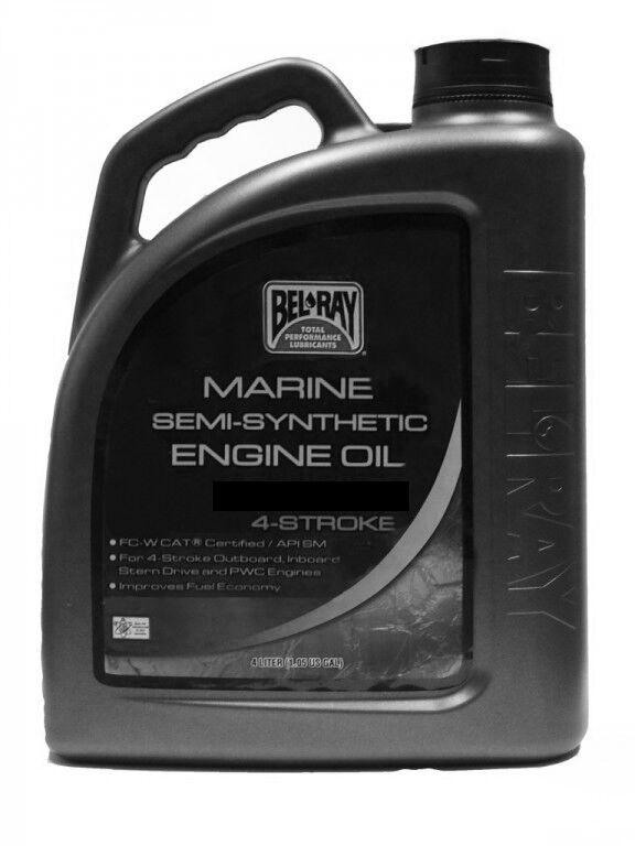 Obrázek produktu Motorový olej Bel-Ray MARINE 4T SEMI-SYNTHETIC 10W-40 4 l 99751-BT4