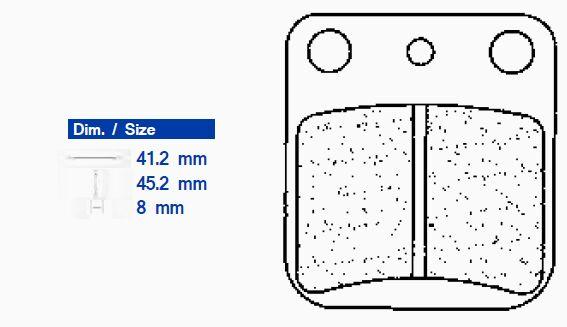Obrázek produktu Brzdové destičky CL BRAKES X59