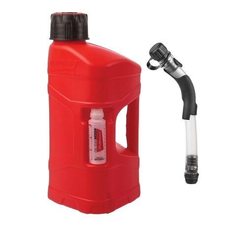 Obrázek produktu Kanystr POLISPORT PROOCTANE 10 l with standard cap + 100 ml mixer + hose průhledná červená