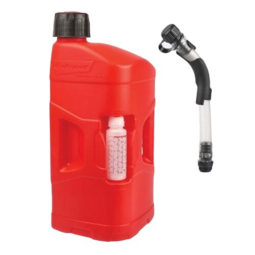 Obrázek produktu Kanystr POLISPORT PROOCTANE 20 l with standard cap + 250 ml mixer + hose průhledná červená