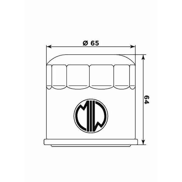 Olejový filtr MIW (alt. HF204) HONDA CB 650 R 2019-2019-1