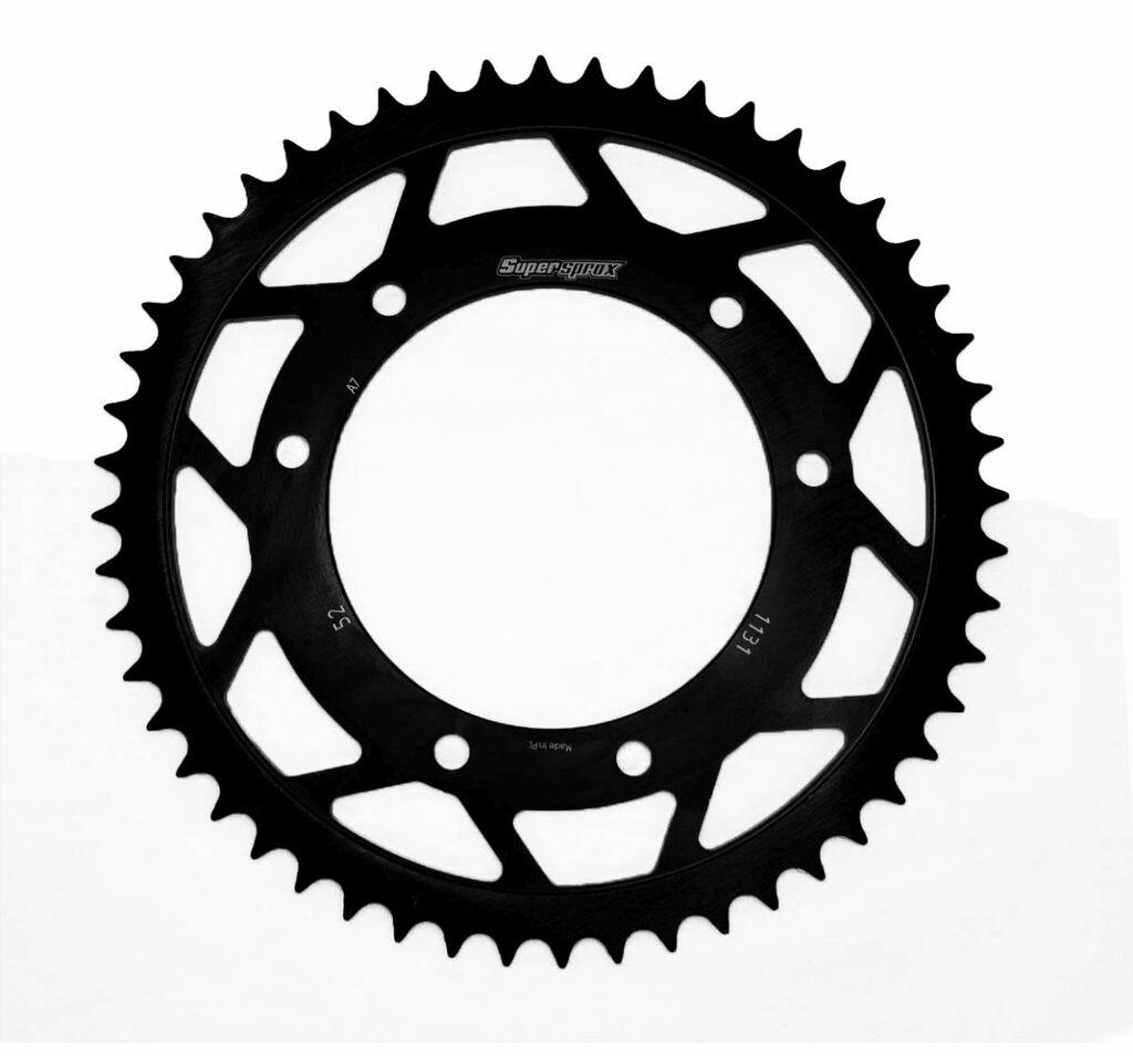 Obrázek produktu Řetězová rozeta SUPERSPROX černý 52 zubů, 420