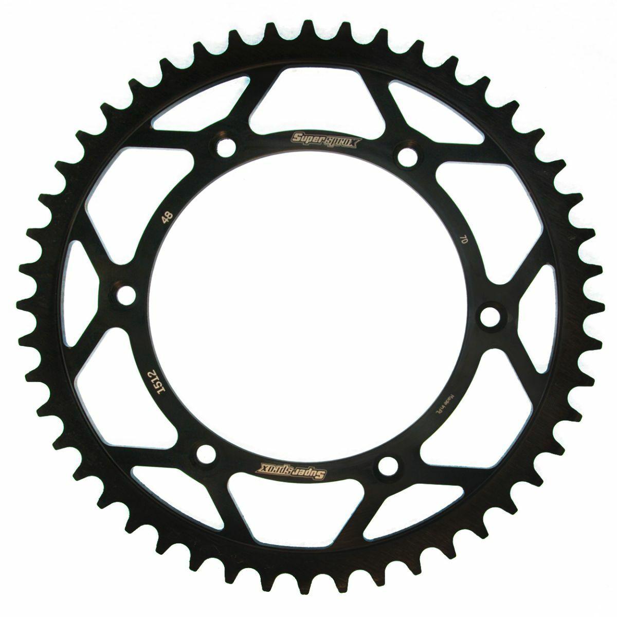 Obrázek produktu Řetězová rozeta SUPERSPROX černý 48 zubů, 520