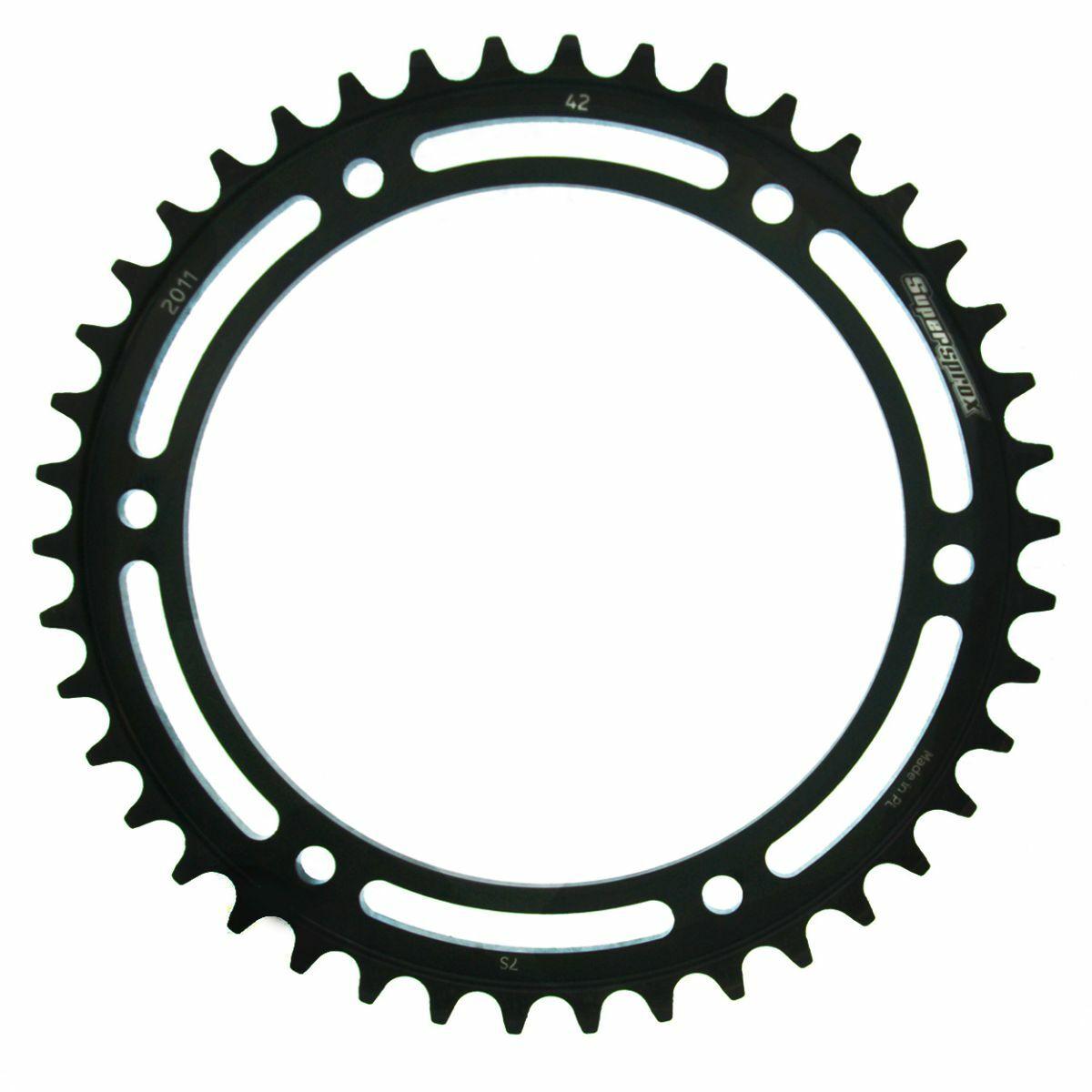 Obrázek produktu Řetězová rozeta SUPERSPROX černý 42 zubů, 530