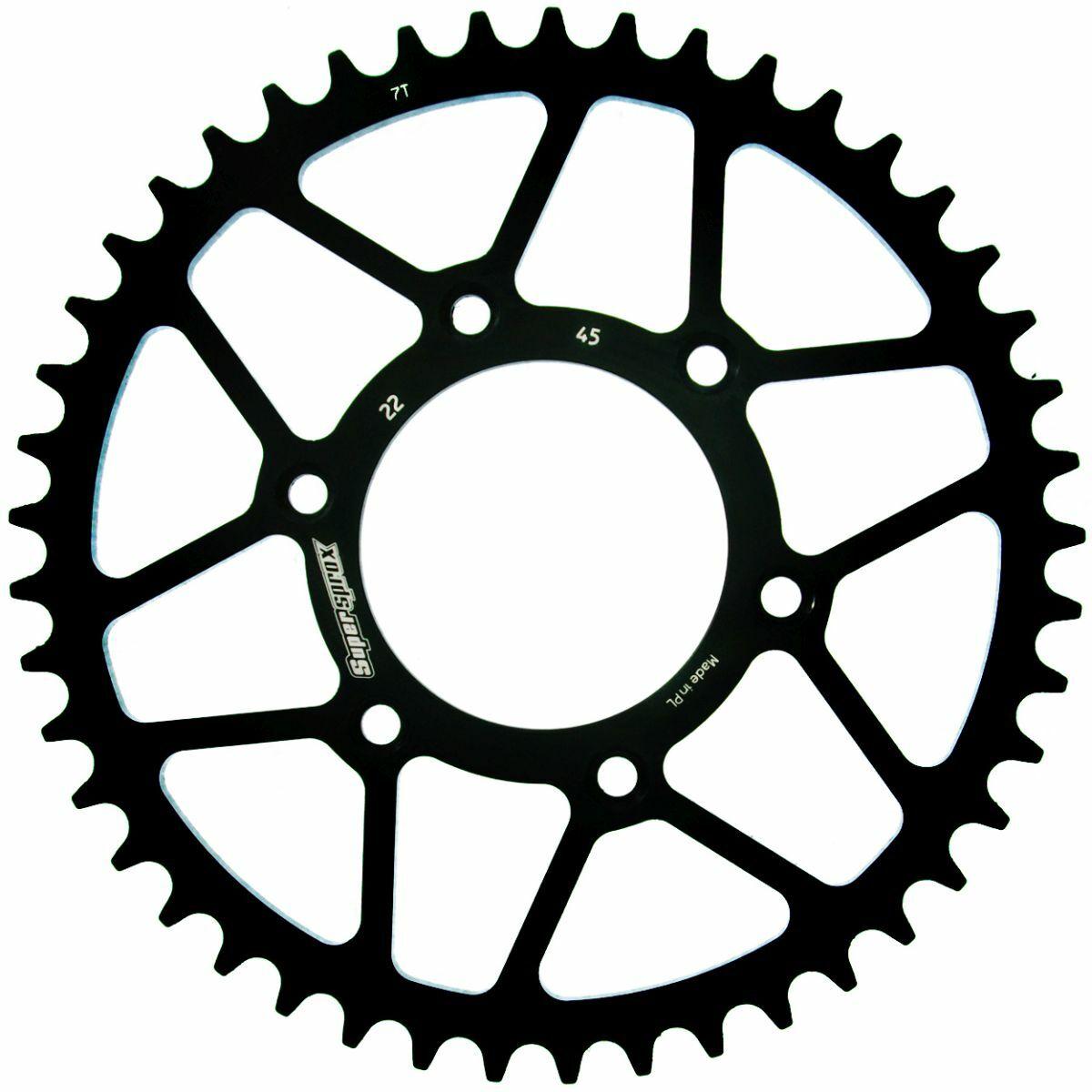 Obrázek produktu Řetězová rozeta SUPERSPROX černý 45 zubů, 520