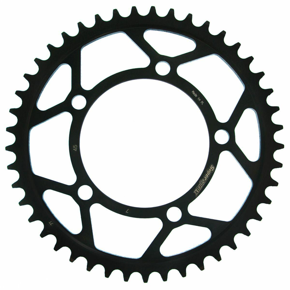 Obrázek produktu Řetězová rozeta SUPERSPROX černý 45 zubů, 525