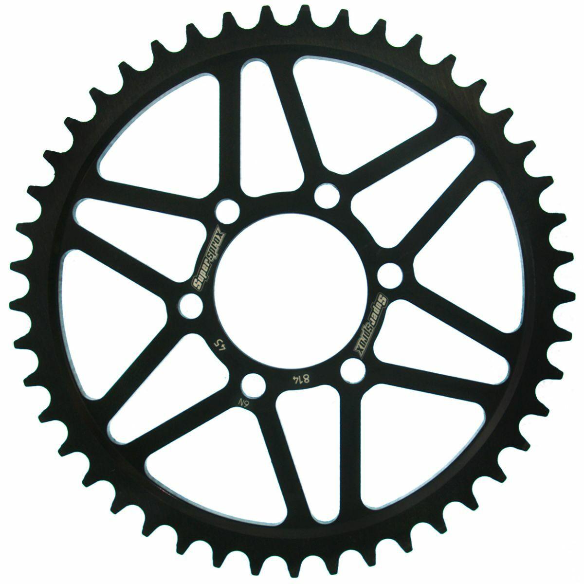 Obrázek produktu Řetězová rozeta SUPERSPROX černý 45 zubů, 530