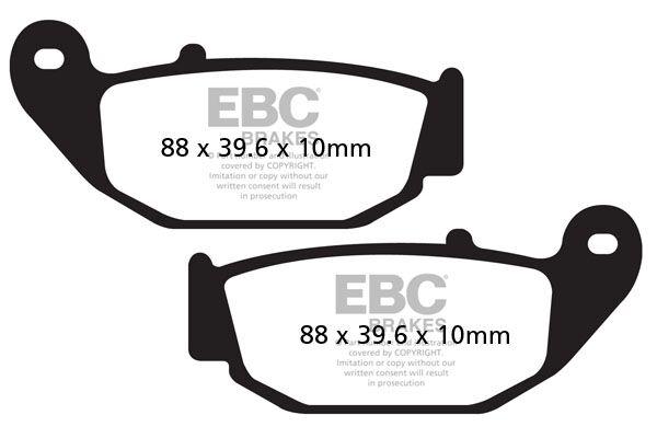 Obrázek produktu Brzdové destičky EBC CB 125 R; pravá
