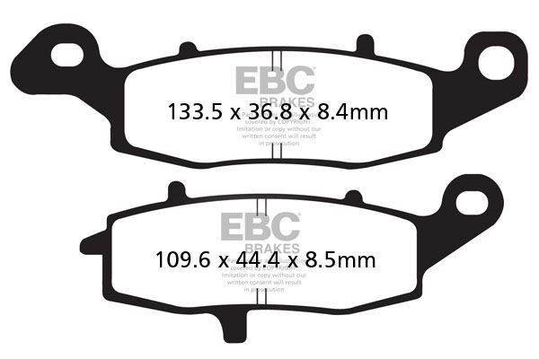 Obrázek produktu Brzdové destičky EBC Levý (11-12); Pravý (13-16)