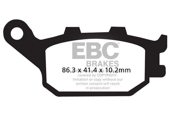 Obrázek produktu Brzdové destičky EBC Pravý; Z 650 NON ABS/Z 650 ABS