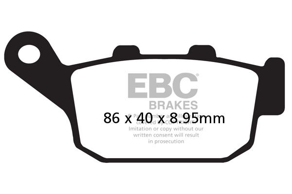 Brzdové destičky EBC CB 650 R AC/ RA AC; pravá HONDA CB 650 R 2019-2019