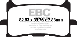 Obrázek produktu Brzdové destičky EBC CB 300 R AC; pravá
