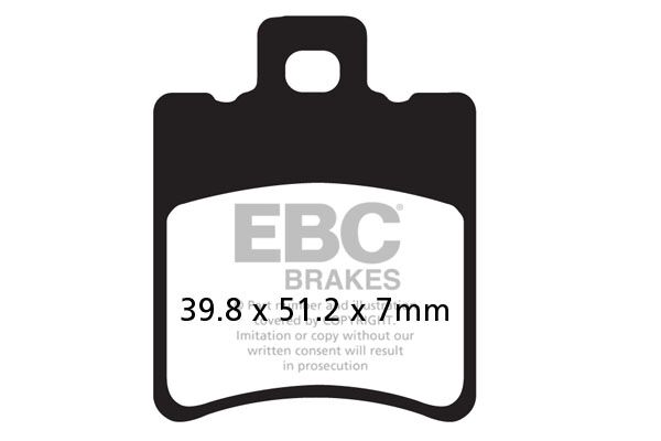 Obrázek produktu EBC BRZDY PAD SFA ORG SCOOTER (SFA193)