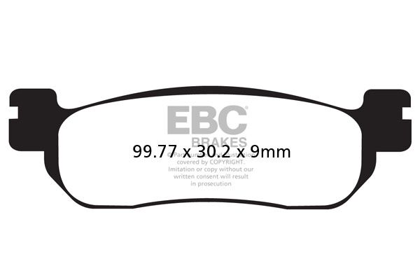 Obrázek produktu Brzdové destičky EBC ABS/bez ABS; Levý/pravý