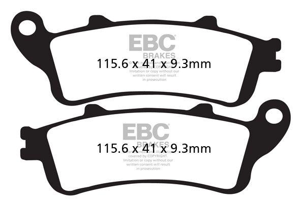 Obrázek produktu Brzdové destičky EBC FJS 400 Silver Wing; levá