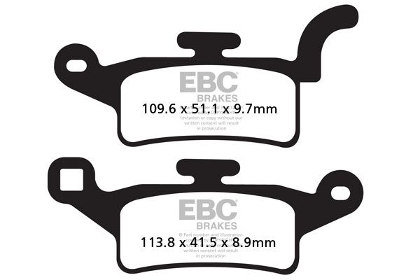 Obrázek produktu Brzdové destičky EBC Levý; YW 125 (BWs 125/1CE1)