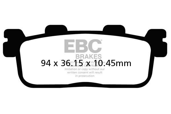 Obrázek produktu Brzdové destičky EBC Pravý; New X Town 300i ABS