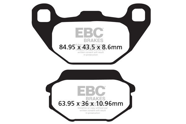 Obrázek produktu Brzdové destičky EBC Levý; Agility 200i R16