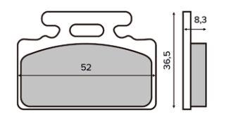 Obrázek produktu Brzdové destičky RMS organické