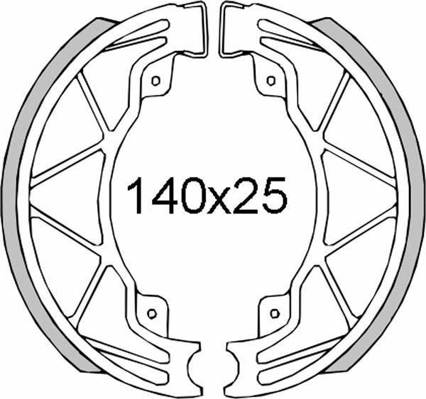 Obrázek produktu Brzdové čelisti RMS zadní