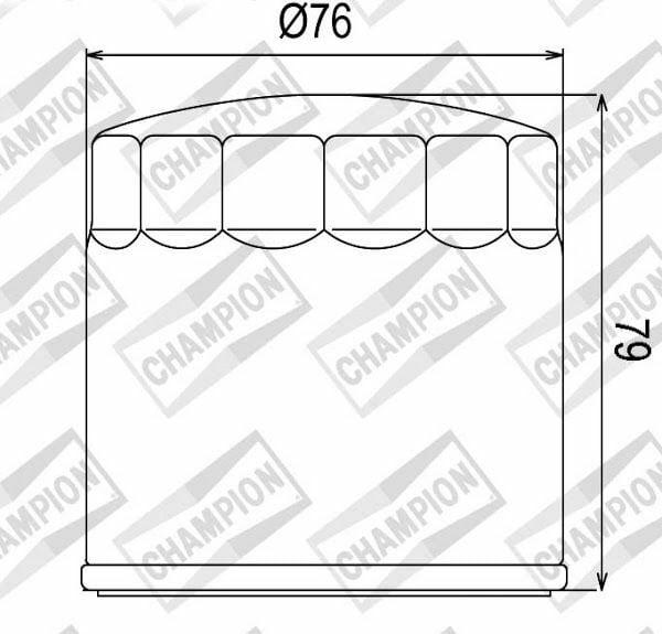 Obrázek produktu Olejový filtr CHAMPION