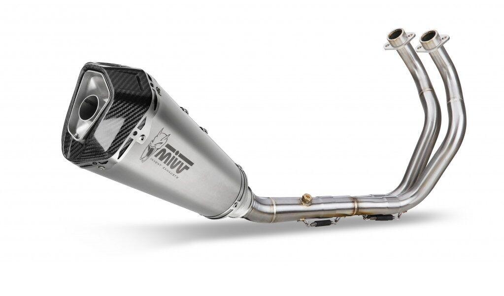 Obrázek produktu Výfuk kompletní 2x1 MIVV DELTA RACE Stainless Steel / Carbon cap Y.044.LDRX