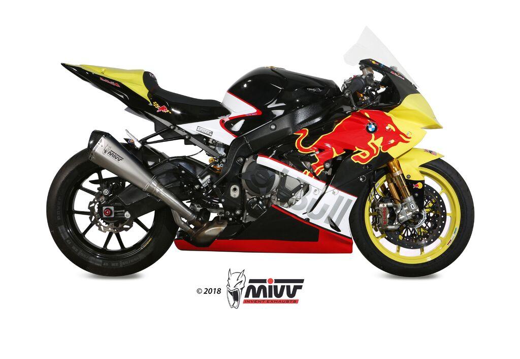 Koncovka výfuku MIVV DELTA RACE Nerez / Karbonové víčko BUELL XB12STT 1200 Lightning Super 2007-2008-1