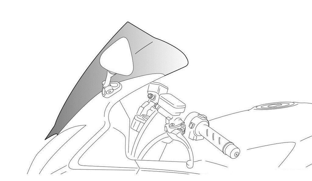 Obrázek produktu Plexi štít PUIG RACING tmavá kouřová