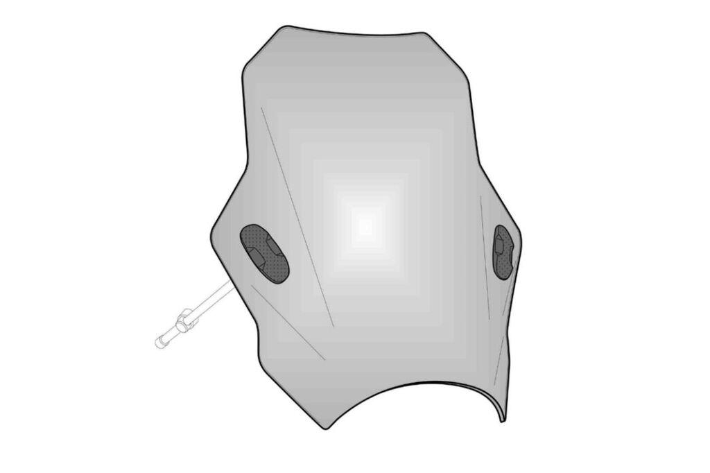 Obrázek produktu Plexi štít PUIG BAT kouřová